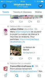 Soutien de Stéphane Bern au projet de La maison de Marcel