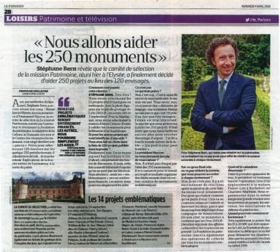 Interview de Stéphane Bern sur les projets sélectionnés pour un co-fiancement