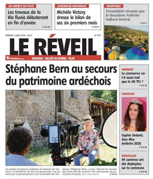 Présentation du projet détaillée de restauration pour France 2 et Stéphane Bern